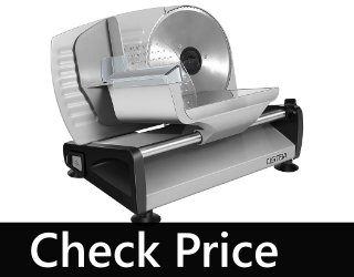 OSTBA Meat Slicer Deli Food Slicer with Child Lock Protection Switch (150W)